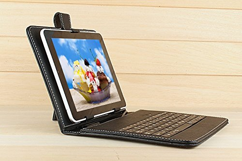 TRex Tablet Keyboard case 8 Inch universal USB2.0 Leather Cover For Andriod PDA PC, Black (Micro Usb Mouse For Andriod compare prices)