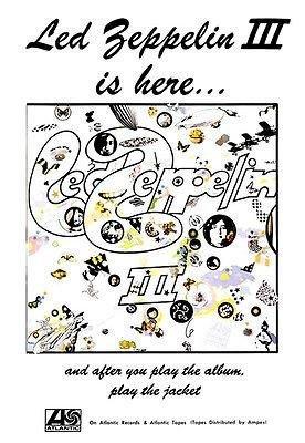 - Led Zeppelin III - 1970 - Album Release Promo Poster