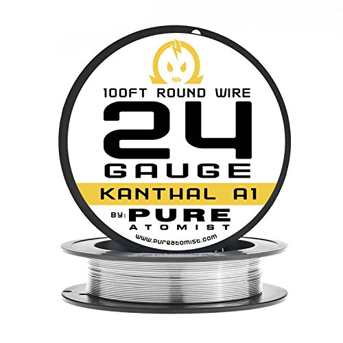 24g - PURE ATOMIST 24 Gauge kanthal A1 Wire 100' Roll - 24 AWG / 0.51mm (24 G Kanthal Wire)