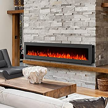 Amazon Com Gmhome 60 Quot Electric Fireplace Wall Mounted