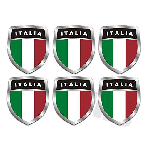 italian stickers hardhat - 1