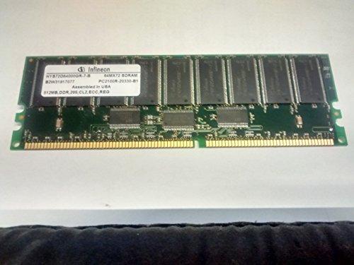 MEMORY, HYS72D64000GR-7-B 64MX72 SDRAM PC2100R-20330-B1 512MB, DDR, 133MHz, CL2, ECC, REG