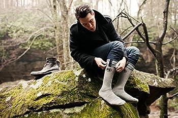 4pairs Merino Wool Socks Heather Charcoal Black Large 2