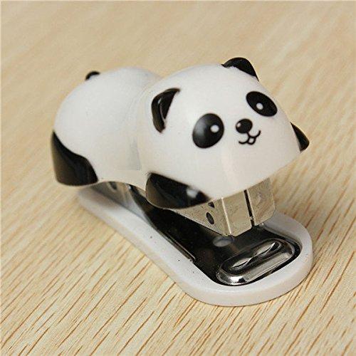 New Panda Mini Desktop Stapler Hand Office Student School Home Stapler Paper