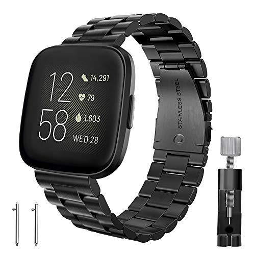 malla de reloj Fitbit Versa/Fitbit Versa 2 sports negro
