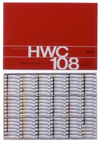 108 color Holbein transparent watercolors all colors set (japan import) by Holbein industry by Holbein