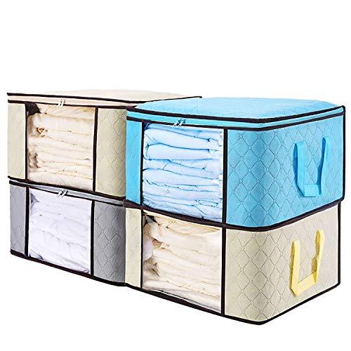 Senbowe Large Foldable Clothes Storage Bags, [4