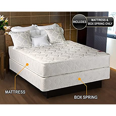 Legacy Medium Firm Full Size 54 X75 X7 Mattress And Box Spring Set Fully Assembled Orthopedic Good Back Support Sleep System With Enhance Support And Longlasting By Dream Solutions USA