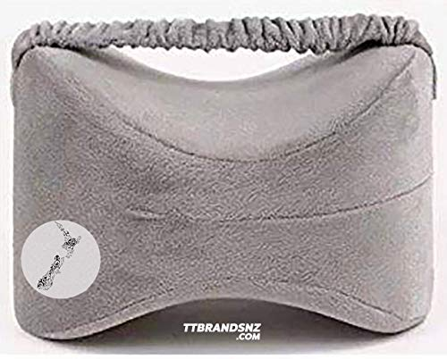 Knee Pillow Wedge for Side Sleepers - Ergonomically Designed for Back,Sciatica, Leg, Hip and Joint Nerve Pain Relief - Soft Comfortable Antibacterial Memory Foam Contoured Support just for Your