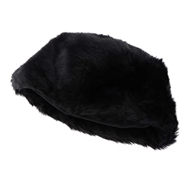 45bb8104 Dolity Retro Mens Ladies Warm Cosy Russian Cossack Winter Hat Faux Fur Snow  Ski Black White