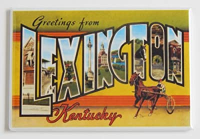 Greetings From Lexington Kentucky Fridge Magnet