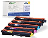 InSassy Compatible Toner Cartridge Replacement for Brother TN221 TN225 HL 3170CDW (2 Black, 1 Cyan, 1 Magenta, 1 Yellow) 5 Pack