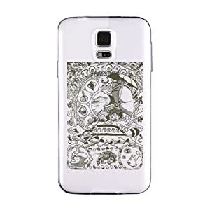 Samsung Galaxy S6 Edge Plus Phone Case,Lifestyle Clear Print Custom Design Divination Pattern,Impact And Dust Portable Phone Shell(Hard shell, White)