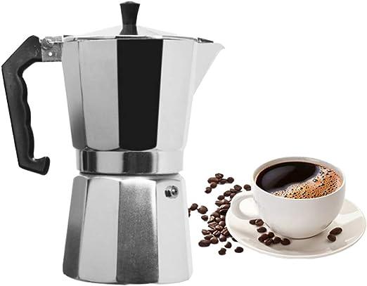 Cafetera Moka de acero inoxidable, cafetera espresso italiana ...