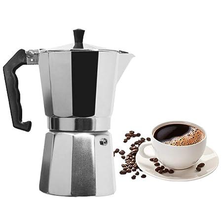 Cafetera Moka de acero inoxidable, cafetera espresso ...
