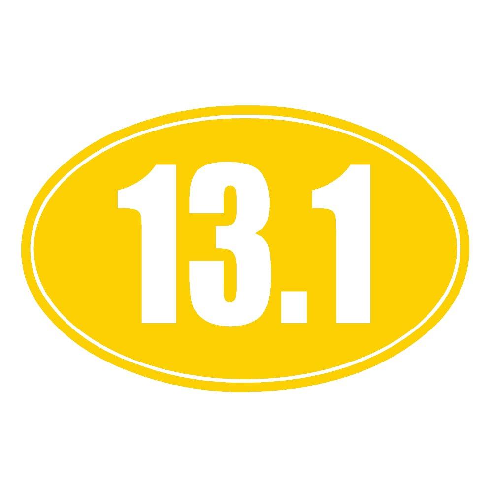 13.1 Halfマラソンソリッドオーバルv1ビニールデカールby stickerdad – サイズ: 5インチ、色: Athleticゴールド – Windows、壁、バンパー、ノートパソコン、ロッカー、など。   B0772XRLQL