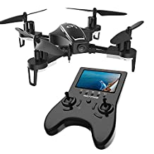Holy Stone HS230 5.8G FPV RC Racing Drone with Camera 120° FOV 720P HD Live Video with LCD Screen, 28 mp/h High Speed and Headless Mode Wind Resistance Includes Modular Bonus Battery