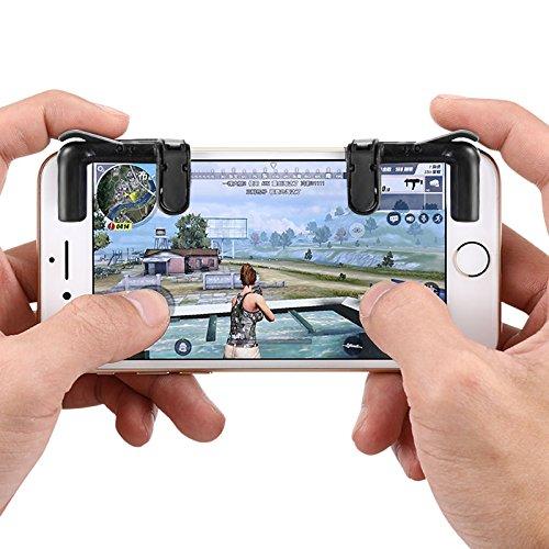 Mobile Game controller, Angju mentale cellulare di gioco sensibile spara e obiettivo chiavi L1R1Shooter controller per Pubg/Fortnite/regole di sopravvivenza, mobile Gaming joystick per Android iOS (1coppia) (° generazione)
