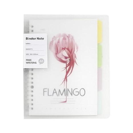 Amazon.com: Cuaderno de hojas sueltas tamaño A5, 20 agujeros ...