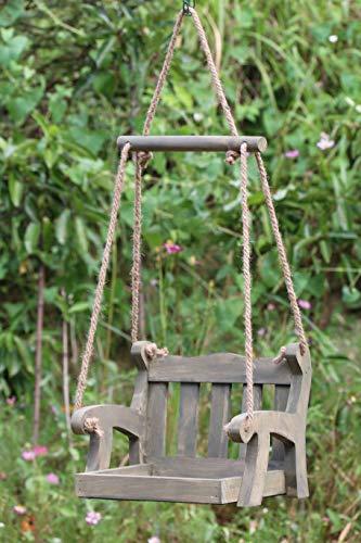 Gardirect Wooden Swing Seat Bird Feeder, Tray Feeder (Pine)