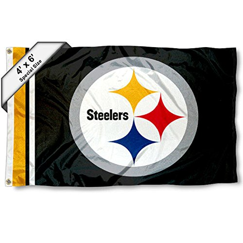 WinCraft Pittsburgh Steelers 4' x 6' Foot Flag