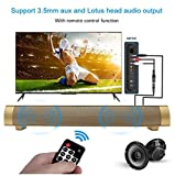Bluetooth Speaker, YOKKAO Bluetooth 3.0 Wireless Soundbar Speaker Built-in Subwoofer Support TF Card/ 3.5mm Aux-in for Smartphone/ Tablet/ TV/ MP3