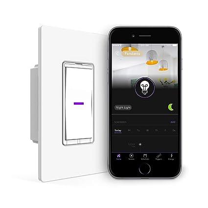iDevices Interruptor de la luz interruptor de pared – Wifi Smart, NO requiere Hub,