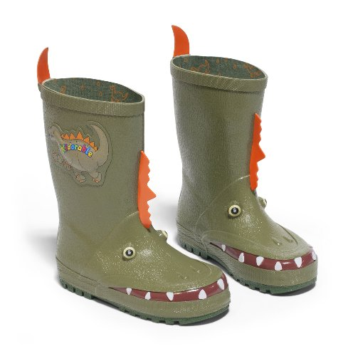 (Kidorable Boys' Dinosaur Rain Boot, Green 7 M US)