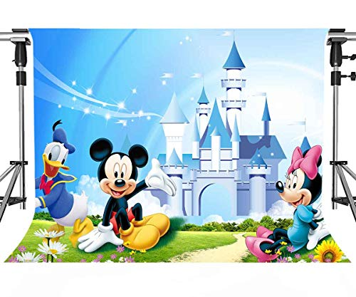 - Meets 7x5ft Disneyland Backdrop Donald Duck Mickey Mouse Photography Background Themed Party Photo Booth YouTube Backdrop GEMT921