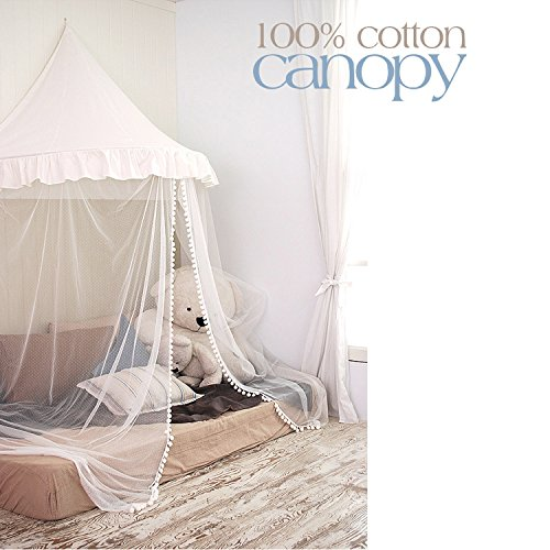 New HAN-MM Hanging Bed Canopy Princess Play Tent and Bed Canopy Round Hoop Netting Mosquito Net Bedr...