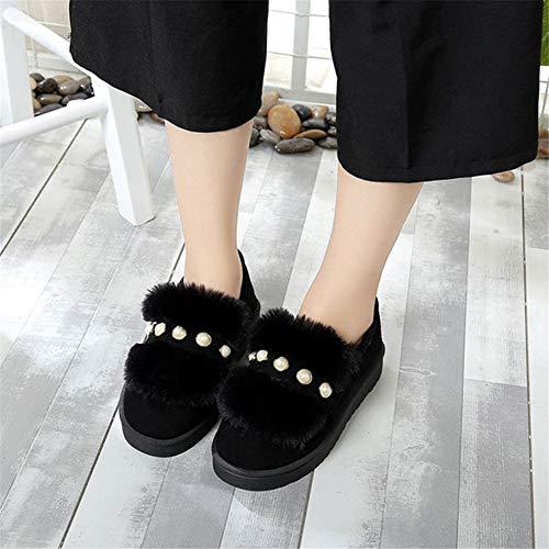 Abalorios Antideslizante Mujeres Algodón Zapatos Prueba Para 39 La Nieve A Botas Calor De Invierno Plano Fondo A Y Dthjk Cortas Eu Cuentas Mujeres qIU784wTx