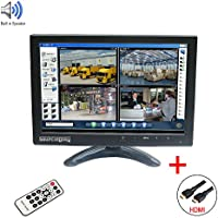 Sourcingbay IPS101 10 IPS TFT LED CCTV Monitor with HDMI Cable and BNC Cable for DVR Camera PC - Built-in Speaker (Black)