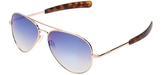 bfcd598cc3 Randolph Concorde Infinity Sunglasses Rose Gold 22K Bayonet Oasis Metalllic  61mm