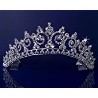 Rhinestones de cristal boda nupcial concurso Princesa Tiara corona 3150
