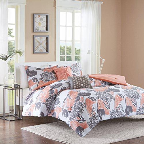Intelligent Design ID10-732 Marie Comforter Set Full/Queen Coral (Bedding Set Coral)