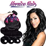 Mornice Hair 10A Brazilian Virgin Hair Body Wave 3 Bundles 24' 26' 28' 100% Unprocessed Virgin Human Hair Weft Extensions Natural Color 100g/pc