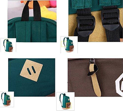 Minetom Lona Backpack Mochilas Escolares Mochila Escolar Casual Bolsa Viaje Moda Mm Logo Mujer marrón
