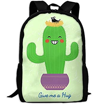 Give Me A Hug Of Cactus Adult Travel Backpack School Casual Daypack Oxford Outdoor Laptop Bag College Computer Shoulder Bags