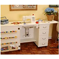 Norma Jean Wooden Sewing Table Desk Finish: White