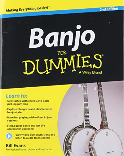 - Banjo For Dummies: Book + Online Video and Audio Instruction