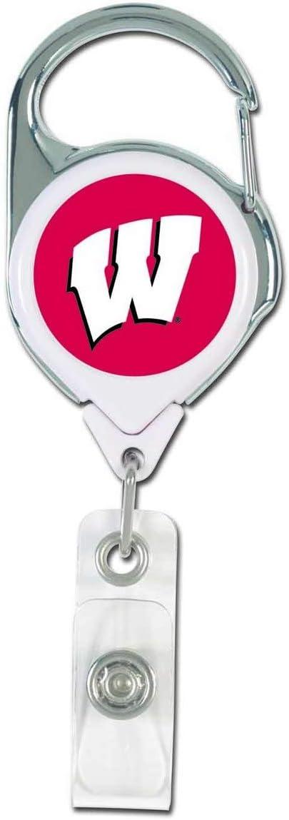 Wisconsin Badgers NCAA プレミアムバッジリール&ホルダー チームカラー