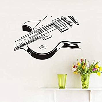 Pegatinas de pared de bricolaje de guitarra eléctrica ahueca hacia ...