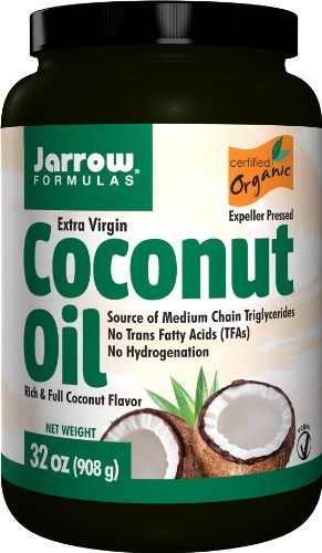 Formulas Coconut Oil Jarrow (Jarrow Formulas Coconut Oil 100% Organic, Extra Virgin, 32 Ounce (Pack of 3))