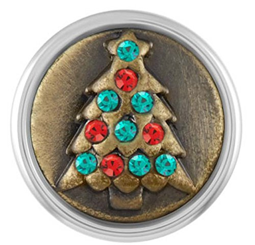 Ginger Snaps Petite Brass Holiday Tree Snap - Collection Ginger