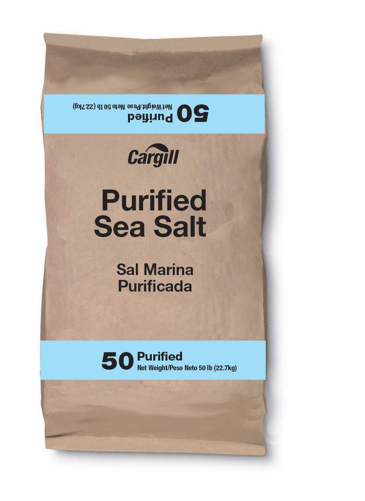 Cargill Purified Untreated Sea Salt, 50 Pound - 1 each.