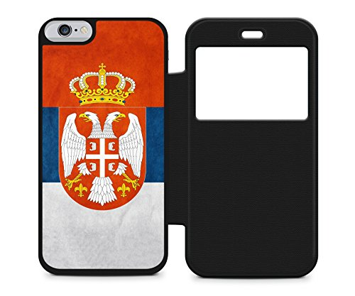 Serbien Srbija Apple iPhone 6 / 6S FLIP Klappbare BK Hülle Cover Case Schutz Schale Serbia Flagge Flag