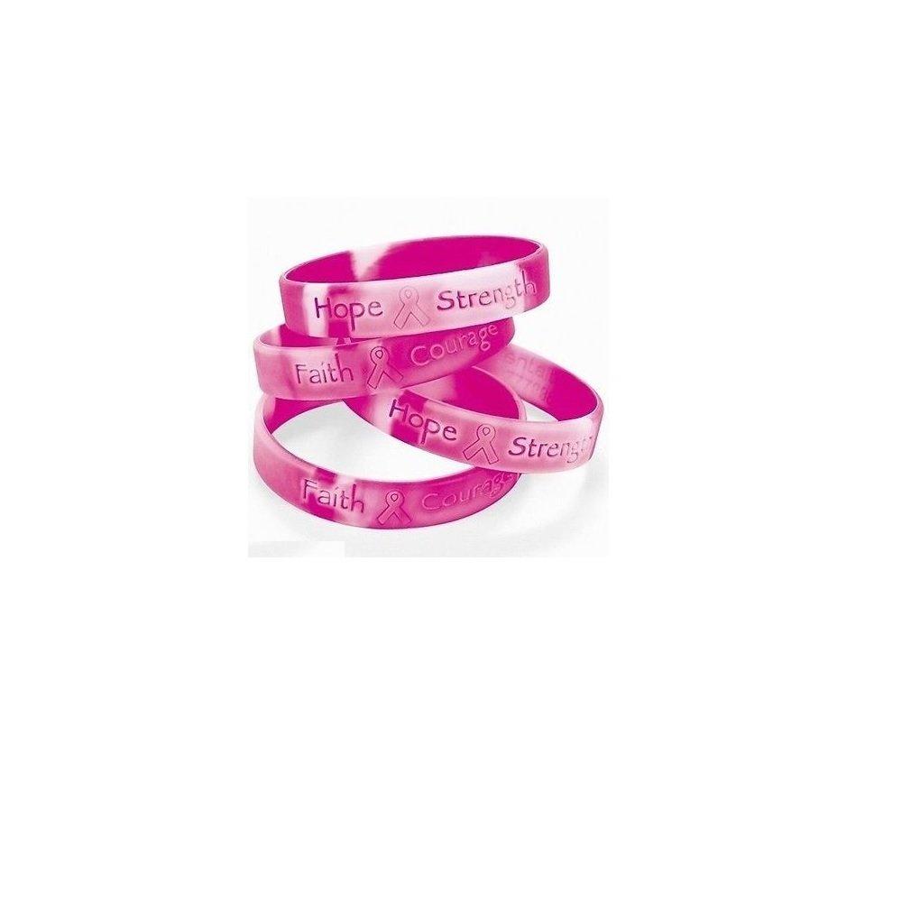 LA Style Pink Ribbon Hope Breast Cancer Awareness Bracelets (Set Two)