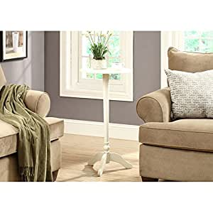 Monarch Accent Table, 30-Inch, Antique White