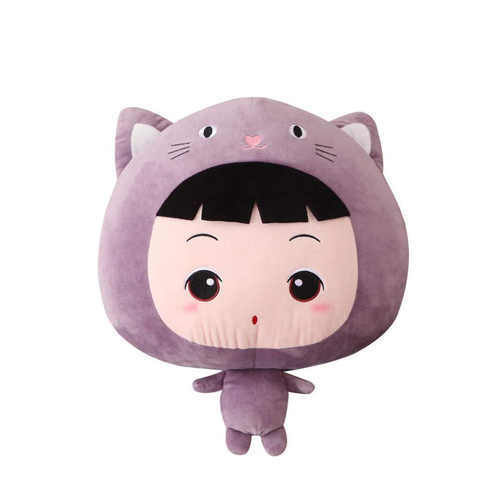 JLOSF 3 in 1 Cute Cartoon Plush Stuffed Animal Toys Throw Pillow Blanket Set, with Hand Warmer Design-Purple 110x160cm(43''x63'') by JLOSF