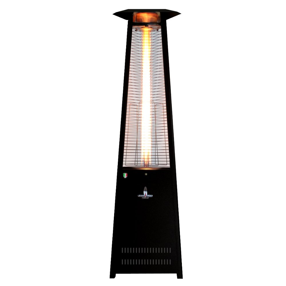 amazoncom lava heat italia amazon137 patio heater hammered black finish natural gas home outdoor heaters patio lawn u0026 garden - Natural Gas Patio Heater